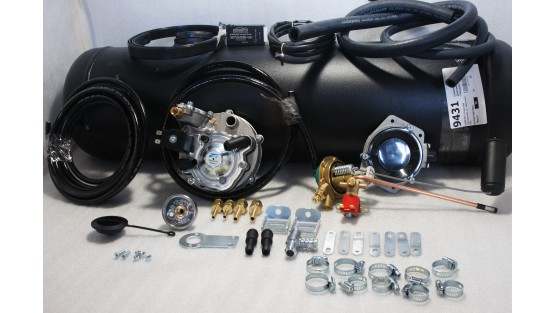 Комплект ГБО 2 Tomasetto карбюратор солекс + 30л.(под бампер)