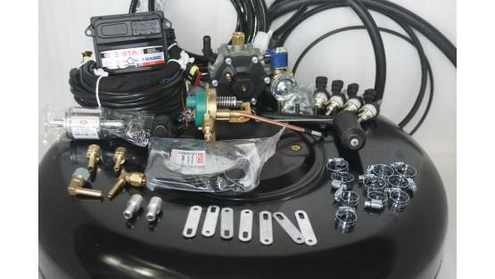 Комплект ГБО 4 Stag Q-Box Basic/ред.Stag r02/Hana + баллон 42л.Новый