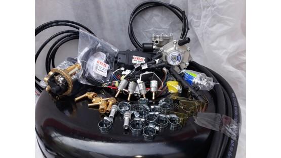 Комплект ГБО 4 Stag 200 Go Fast/ред.Alex Shark 1200/Magic + балон 42л.