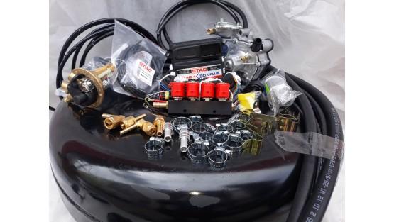 Комплект ГБО 4 Stag Q-Box PLUS/ред.Tomasetto Nordic/форс.Valtek + баллон 42л.Новый