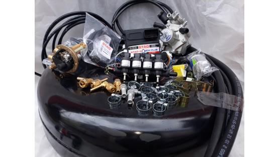 Комплект ГБО 4 Stag Q-Box PLUS/ред.Alex Shark 1200/Hana + баллон 42л.Новый