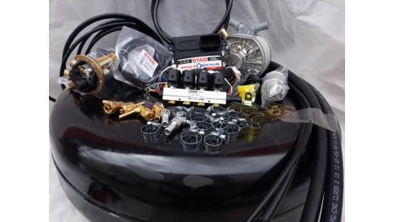 Комплект ГБО 4 Stag Q-Box PLUS/ред.KME Silver/форс.Stag w 01 + баллон 42л.Новый