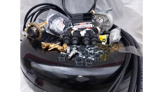 Комплект ГБО 4 Stag Q-Box PLUS/ред.KME Silver/AEB + баллон 42л.Новый