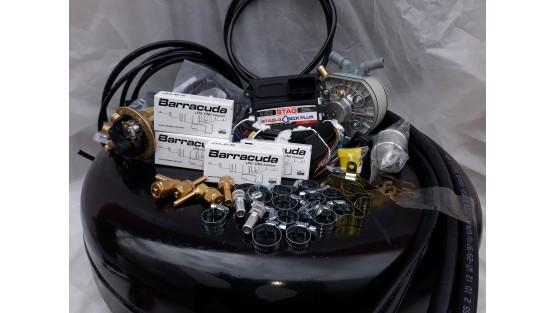 Комплект ГБО 4 Stag Q-Box PLUS/ред.KME Silver/Barracuda + балон 42л.
