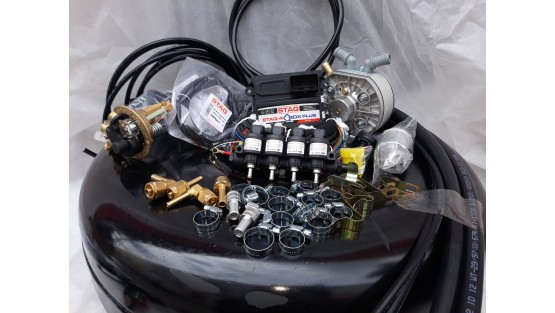 Комплект ГБО 4 Stag Q-Box PLUS/ред.KME Silver/Hana + балон 42л.