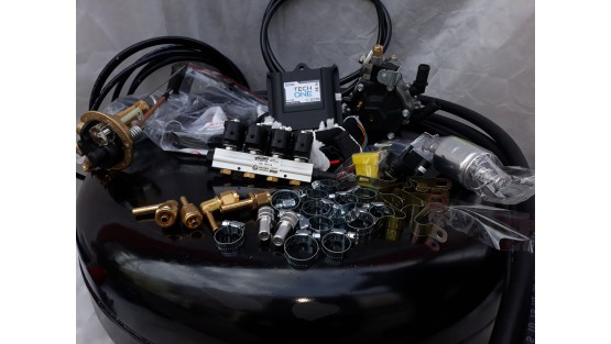 Комплект ГБО 4 Lpg Tech One/ред.Stag r02/Stag w01 + балон 42л.