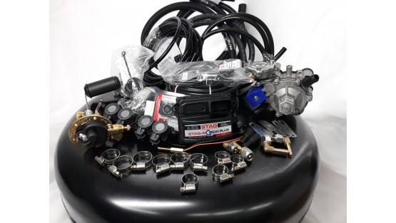 Комплект ГБО 4 Stag Q-Box PLUS/ред.Tomasetto Nordic/AEB + балон 42л.